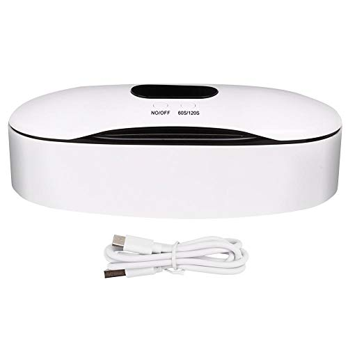 Cosiki Boîte à lumière UV, USB UV Case Jewelry Cleaner Ultraviolet LED Box pour Nail Art Tool pour Comestic Beauty Salon(USB)