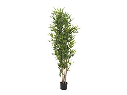 EUROPALMS Bambus deluxe, Kunstpflanze, 180cm | Naturstamm-Bambus mit Blättern aus hochwertigem PEVA