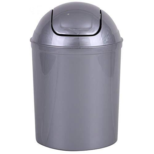 Meilleures ventes - Poubelle pour la Salle de Bains, en Plastique Gris, capacité 5 litres