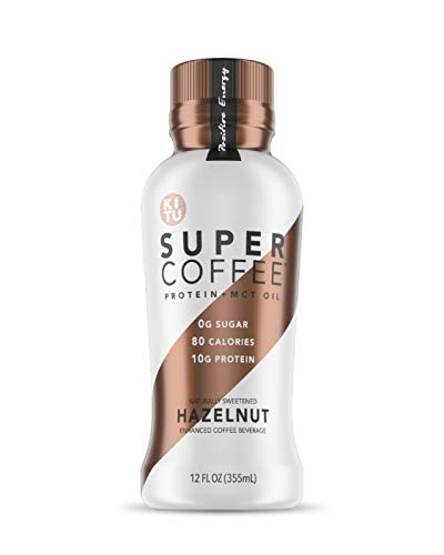 Kitu Super Coffee, Iced Keto Coffee (0g Added Sugar, 10g Protein, 70 Calories) [Hazelnut] 12 Fl Oz, 12 Pack | Iced Coffee, Protein Coffee, Coffee Drinks - LactoseFree, SoyFree, GlutenFree