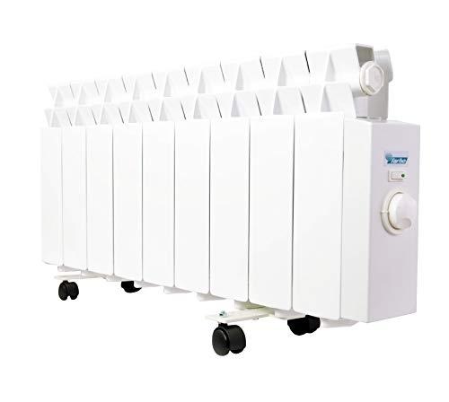farho Radiador Eléctrico Bajo Consumo LPR 675W (9) · Emisor Térmico con Termostato Analógico · Acumulador de Calor Portátil · Especial Bajo Camilla · 10 AÑOS GARANTÍA
