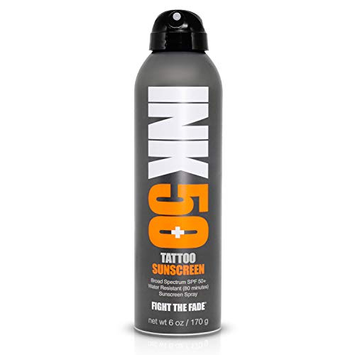 INK Tattoo Sunscreen Spray SPF 50+ Water Resistant