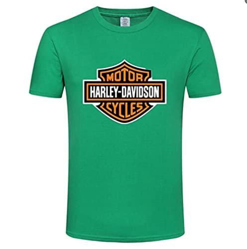 FXZFYYY Camiseta De Manga Corta con Logotipo Clásico De Harley Davidson para Hombre, Camiseta De Cuello Redondo para Hombre