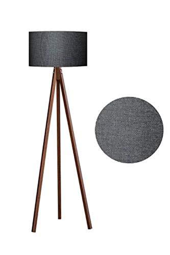 Lámpara de Pie Estilo moderno Lámparas de piso pintadas de hierro moderno E27 LED 220V luces de piso para sala de estar Estudio de la cabecera oficina Lámpara de Pie Moderna (Body Color : Brown)