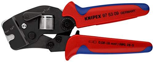 KNIPEX Selbsteinstellende Crimpzange für Aderendhülsen mit Fronteinführung (0,08- 10/ 16mm²) 97 53 09