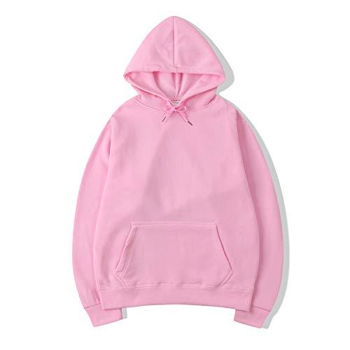 Hombres Pulóver de Manga Larga Acanalado Efecto Básico Fashion SuéterJersey de Color Liso suéter Transferencia térmica Rosa M