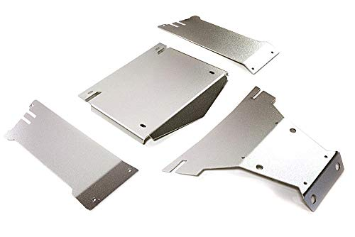 Integy RC Model Hop-ups C27662SILVER Aluminum Alloy Body Panel Kit for Axial 1/10 Yeti Rock Racer Buggy