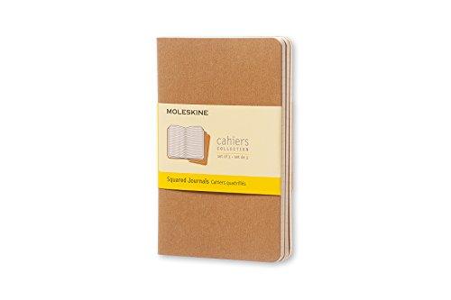 Moleskine - Cahier Journal Cuaderno de Notas, Set de 3 Cuadernos con Páginas, Tapa de Cartón y Cosido de Algodón Visible, Color Marròn Kraft