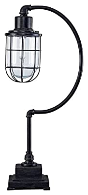 Ashley Furniture Signature Design - Kylen Desk Lamp with Metal Shade with in-Line Switch - Industrial - Bronze Finish