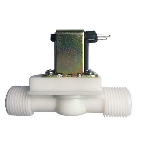 Válvula electromagnética de agua Interruptor de flujo de entrada de aire magnético eléctrico de 24 V N/C 1/2 pulgada