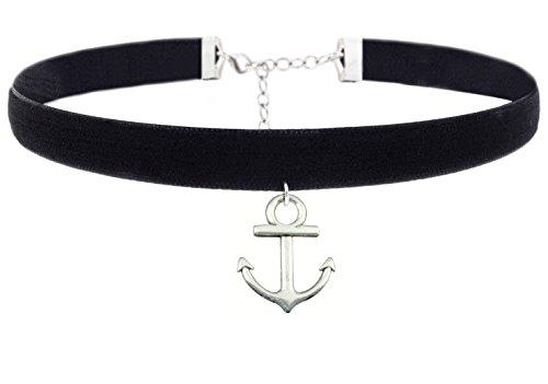 Anelli di pendente dell'anello di modo sveglio delle collane del Choker dell'annata del velluto nero per le donne delle ragazze