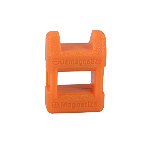 Carrywon Mini - Fast 2 In 1 Screwdriver Plus Magnetizer Demagnetizer Tool Screwdriver Hand Tool Parts Orange