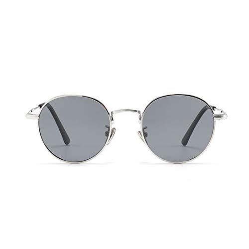 XIAOTANBAIHUO Anteojos Gafas de sol polarizadas para niños, pequeñas y redondas, con borde de metal y caja coloreada Protección UV Niños y niñas de 3 a 12 gafas de sol Protección UV Gafas protectoras