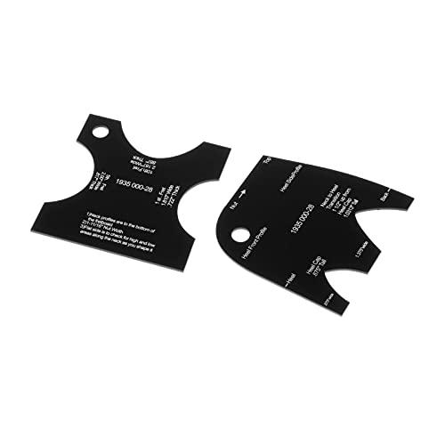 Hellery 2/piezas de guitarra que hace la plantilla del molde del cuello de la forma del cuello de referencia nivelación Luthier accesorio...
