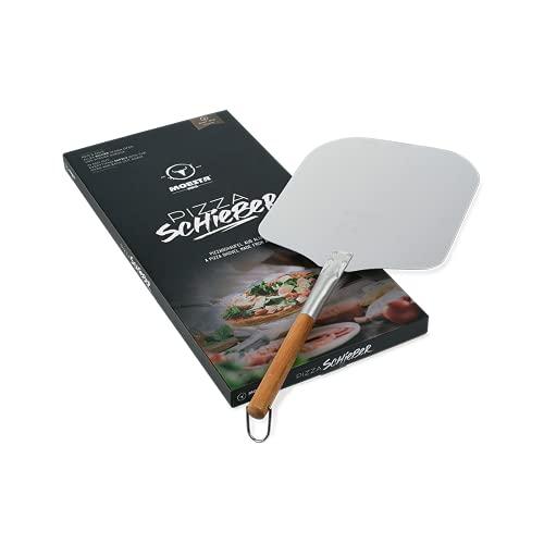Moesta-BBQ 10039 Pizzaschieber No. 1 – 66cm Aluminium-Pizzaschaufel mit Holzgriff für Pizzabacken wie beim Italiener