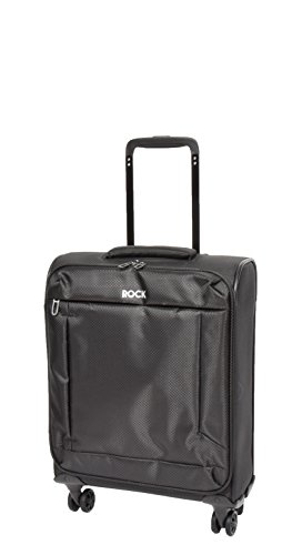 Cabin Size Super Lightweight Hand Luggage 4 Wheel Spinner Suitcase Trolley Bag A067 Black