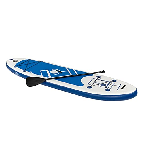 Stand Up Paddling Board Aufblasbares SUP Board Set Aufblasbar 300 * 82 * 15 cm 6 Zoll Dick 130KG Paddle Surfboard Stabiles Leichtgewicht Komplettes Zubehör Paddel Hochdruck-Pumpe Rucksack