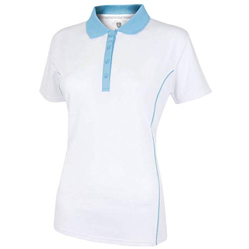 Island Green IGLTS1882 Polo de Golf pour Femme Blanc/Bleu...