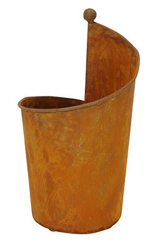 Posiwio dekorative ausgefallene hohe Pflanz-Schale Deko-Schale Kräuter-Schale Metall edelrost