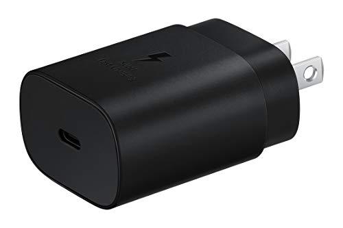 SAMSUNG 25W USB-C Cargador de Pared de Carga súper rápida (el Cable USB-C no está Incluido), Negro (Versión de EE. UU