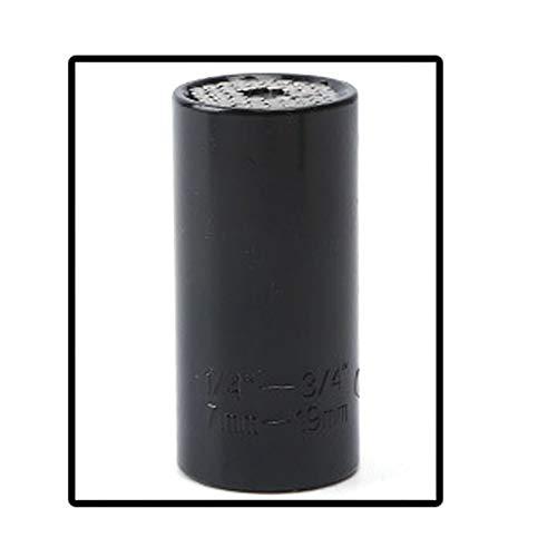 FYYONG 7-19mm Llave universal de par Head Set Socket manga trinquete de agarre 3/8 buje Llave mágica herramienta multifunción Llave de cubo (Color : Black)