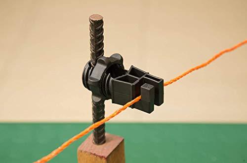 Gemi Elettronica Isolatori per recinto elettrico pali in ferro 200 pezzi recinzioni elettriche recinzioni elettrificate per animali cinghiali cani mucche cavalli maiali galline