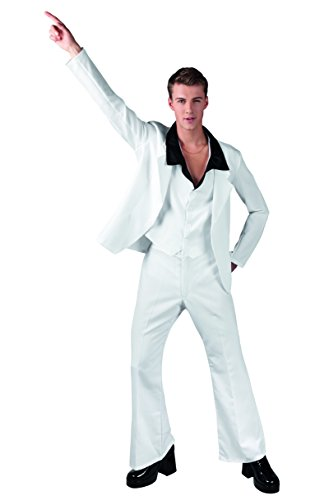 Boland-23637 Disco Disfraz adulto de la fiebre del sbado por la noche, color blanco, M (50/52) (Ciao Srl 23637)