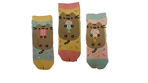 Pusheen Pack of 3 Assorted Ankle Socks by Isaac Morris