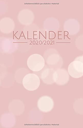 Kalender: Einfacher Kalender von Juli 2020 bis Dezember 2021