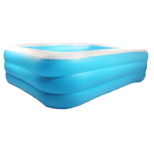 Moligin Inflable Piscina Rectangular Espesado Piscina para Niños del Bebé De Jardín Al Aire Libre del Patio Trasero del Verano Fiesta del Agua Azul 1,8 M