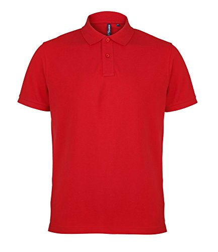 AQ010 Asquith & Fox Men's Polo Red S