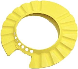 قبعة ناعمة لحماية الطفل من الشامبو اثناء الاستحمام للاطفال والرضع، باللون الاصفر من سوزن