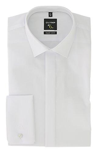 OLYMP No. Six super Slim Hemd Langarm Umschlagmanschette weiß Größe 42