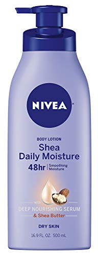 NIVEA Shea Daily Moisture Body Lotion - 48 Hour Moisture For Dry Skin - 16.9 fl. oz. Pump Bottle, (package may vary)