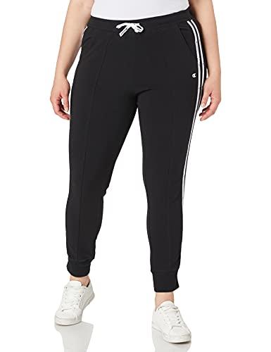 Champion Damen Seasonal Graphic Gallery Rib Cuff Pants Jogginghose, Black, L
