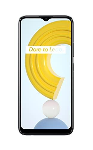 realme C21 Smartphone Libre, Batería de 5000 mAh, Pantalla completa de 6,5' con mini-drop, Cámara triple con IA de 13 MP, Procesador potente Helio G35, Dual Sim, NFC, 4+64GB, Cross Black