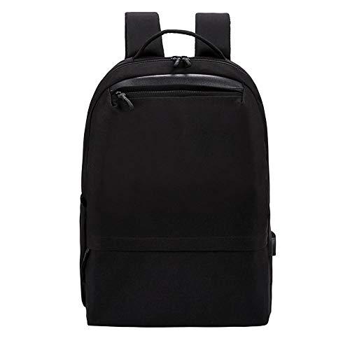 Laptoptas, nonchalant, zakelijke schoudertas van polyester, grote capaciteit, voor studenten, USB-opladen, waterdicht, blue (Zwart) - 9871296831781