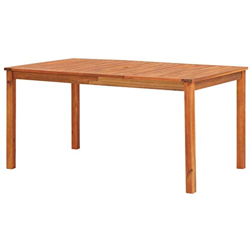 Tidyard Gartentisch Holz Wetterfest Balkontisch Beistelltisch Esstisch Holztisch Terassentisch Quadratisch Gartenmöbel, 150x90x74 cm Akazie Massivholz