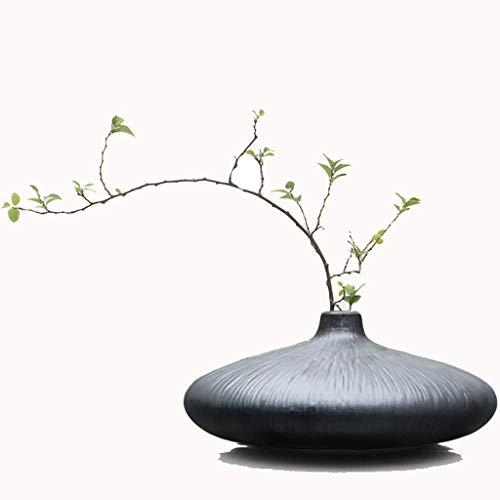YINGTAO22-SHOP Jarrones Zen Moderno Minimalista Creativo Mesa Plana jarrón pequeño salón de té Sala de Estar gabinete de Vino decoración Adornos floreros