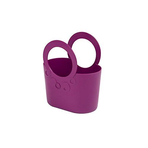 moderne Handtasche 2,2 L Picknickkorb purpur violett Size S Griffe Lily Kosmetik-Tasche Kunststoff