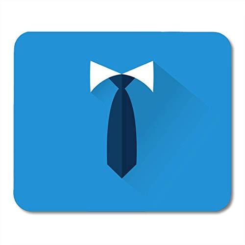 Mauspads Krawatte Weiß Flach Geschäftsmann Krawatte Schwarz Anzug Jacke Maus Matten Mauspad