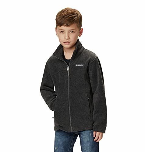 Columbia Boys' Toddler Steens Mt II Fleece Jacket, Charcoal Heather, 3T