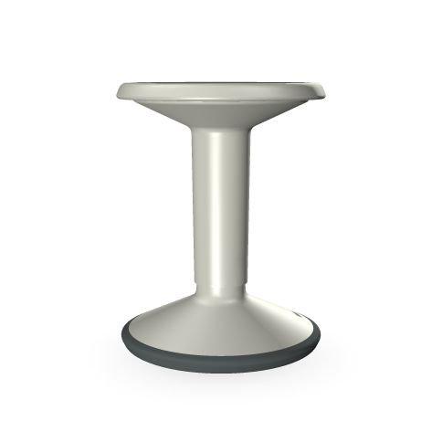 Interstuhl Hocker grau-weiß Verstellbarer Sitz per Handschlaufe