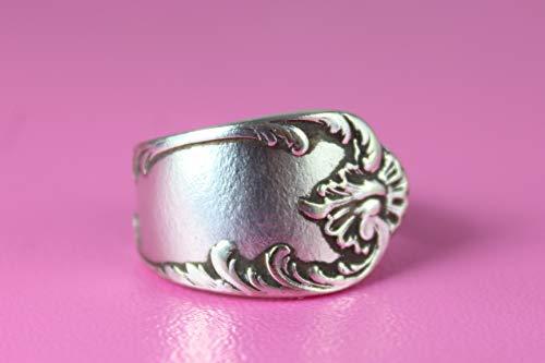 Rokoko Besteck Schmuck Ring, ca. 54 (17,3) Ring aus Besteck