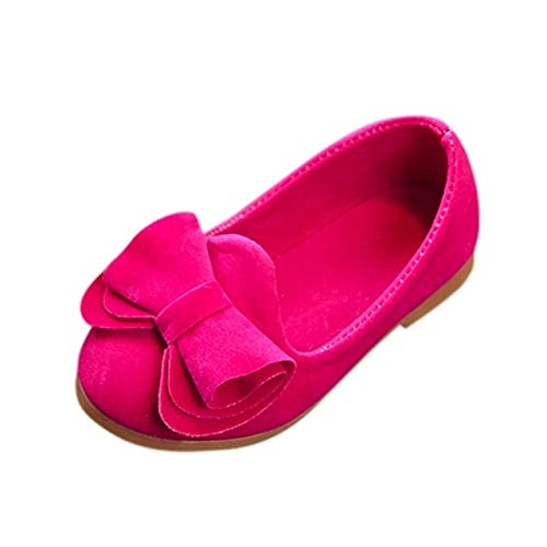WXX bebés del Bowknot de Las Sandalias del niño de los niños de la Princesa de los Zapatos Ocasionales, tamaño: 29 (Rosa) (Color : Yellow)