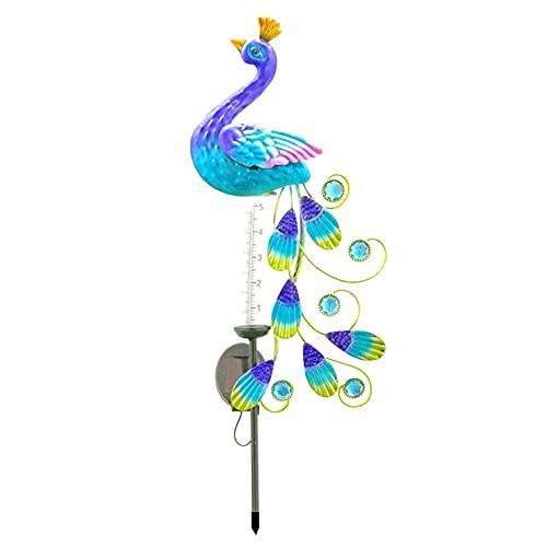 TIEHH Luz de decoración Pintada LED, Luces de Camino Solar, luz Solar de Pavo Real, césped Brillante de Molino de Viento, Adorno de lámpara Estatua de jardinería