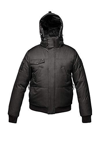 Nobis Stanford Midweight Men's Bomber Jacket Daunenjacke Winterjacke Herren Sympatex wasserdicht & warm (Black/schwarz, L)