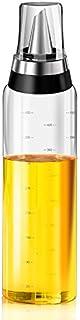 KINGZUO ドレッシング ボトル しょうゆ ボトル しょうゆ差し フタ付きしょうゆ差し 500ml ガラス ステンレス製
