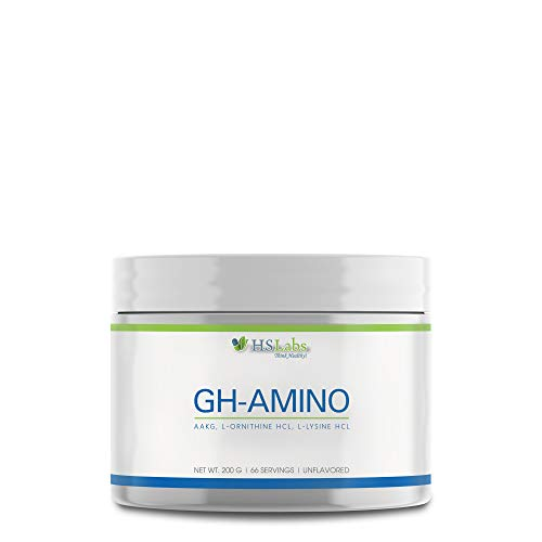 HSLabs GH-Amino Acid Triad 3 Grams of L-Arginine AKG L-Ornithine HCl L-Lysine HCl Pre-Workout Nitric Oxide Booster No Fillers or Additives Strength Stamina Muscle Pumps Performance 200g 66 Servings