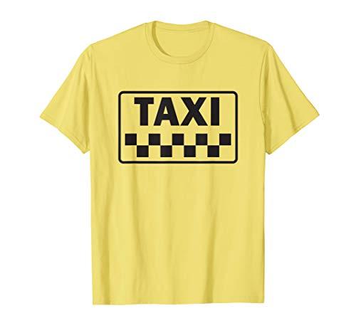 Taxi Costume Halloween T-Shirt Yellow New York Cab T-Shirt
